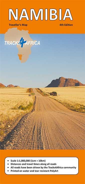 Tracks4Afica Namibia Karte